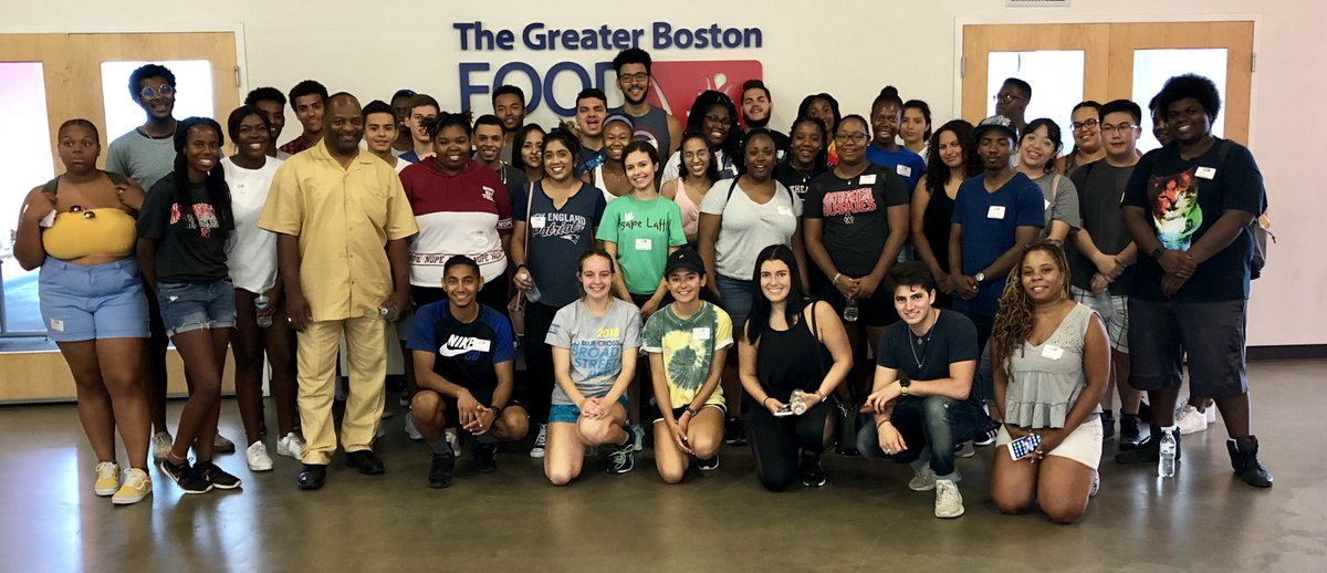 Northeastern Partnership with Greater Boston Food Bank Group Photo
