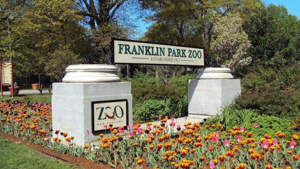 Franklin Park Zoo's entrance sign.