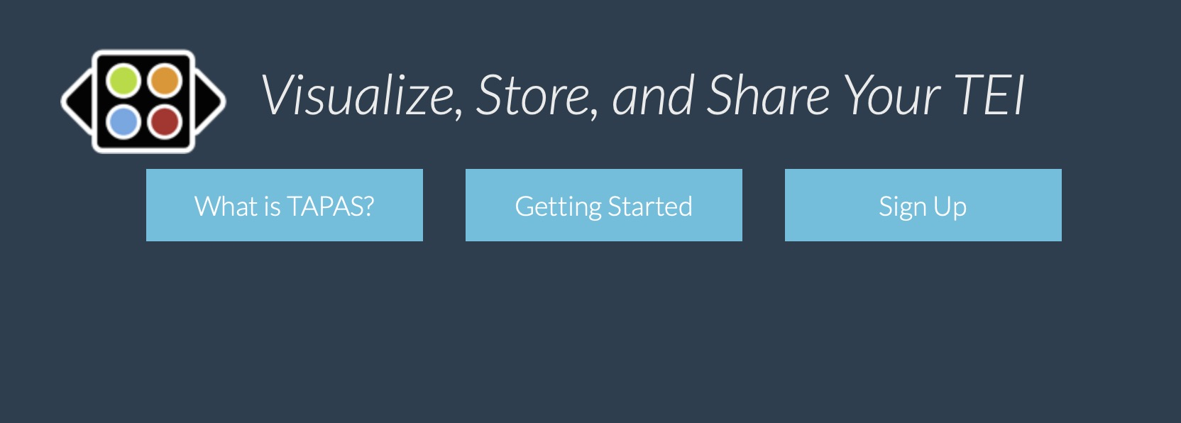Ad that says, Visualize, Store, and Share You TEI